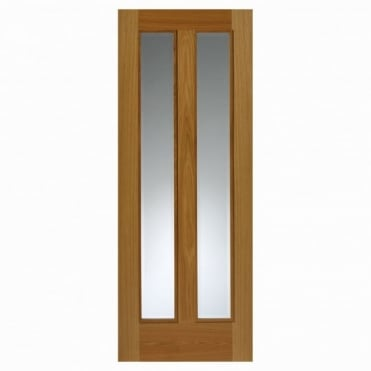 Royale Modern R-11-2V Oak Door Pre-Finished