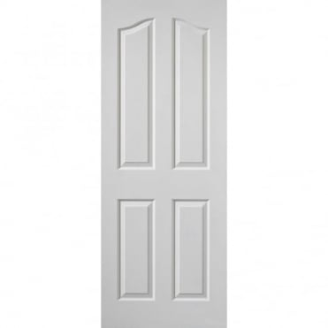 White Edwardian Grained FD30 Fire Door