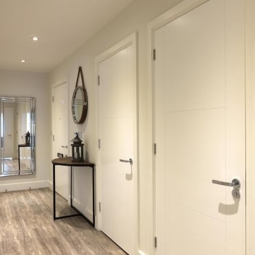 White Mistral Glazed Door - Height 2040mm