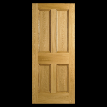 4P Oak Flat Panel Unfinished Internal Door