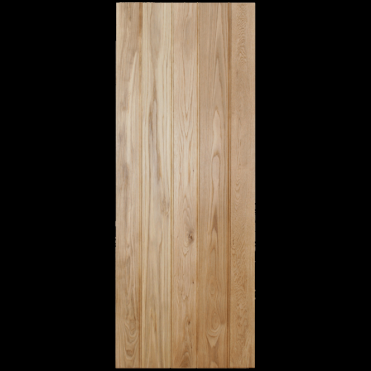 Button Bead Solid Rustic Oak Ledged Unfinished Internal Door