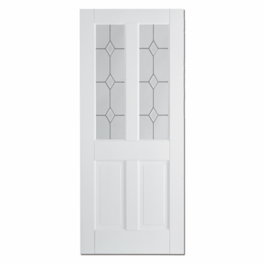 Canterbury White 2 Panel 2L Glazed Internal Door