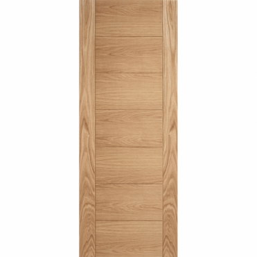 Carini Oak 7 Panel Solid Unfinished Internal Door