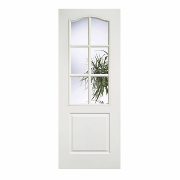 Classic White Composite 1 Panel 6 Lite Glazed Internal Door