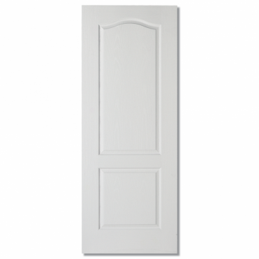 Classical White Composite 2 Panel Textured Internal Fire Door