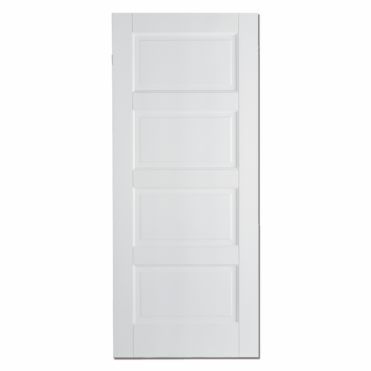 Contemporary White 4 Panel Internal Fire Door