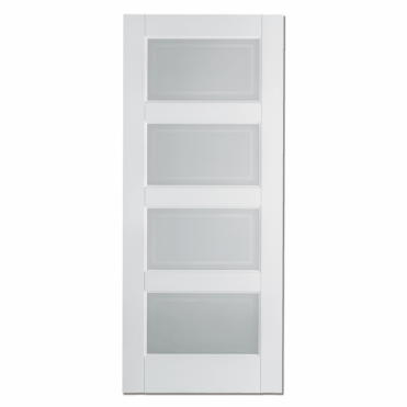 Contemporary White Glazed Internal Door