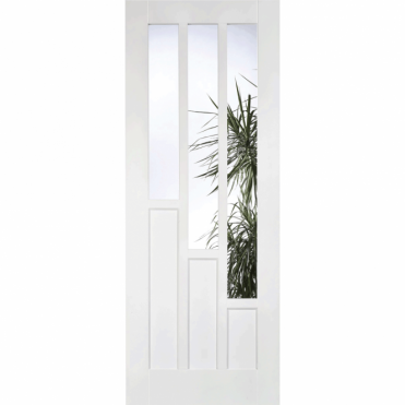 Coventry White Prime Plus 3 Light Glazed Internal Door