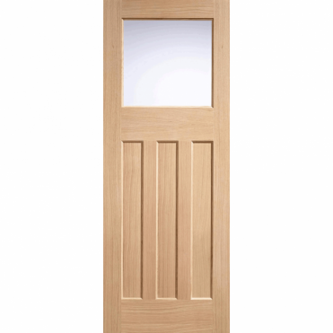 Dx 30'S Oak Frosted Glazed Unfinshed Internal Door