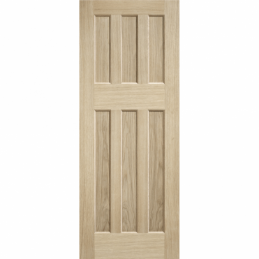 Dx 60'S Style Oak Unfinished Internal Door