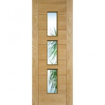 Hampshire Oak Glazed Pre-Finished Internal Door