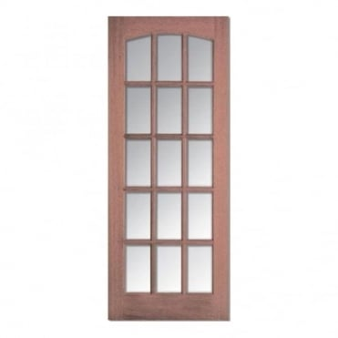 Imperial Hardwood With 6 Bevelled Glass Internal Door