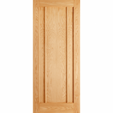 Lincoln Oak 3 Panel Unfinished Internal Fire Door