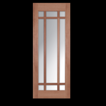 Lyon Hardwood With Clear Bevelled Glass Internal Door