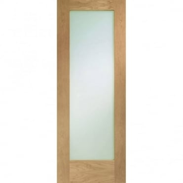 Pattern 10 Oak With Clear Glass Unfinished Internal Door