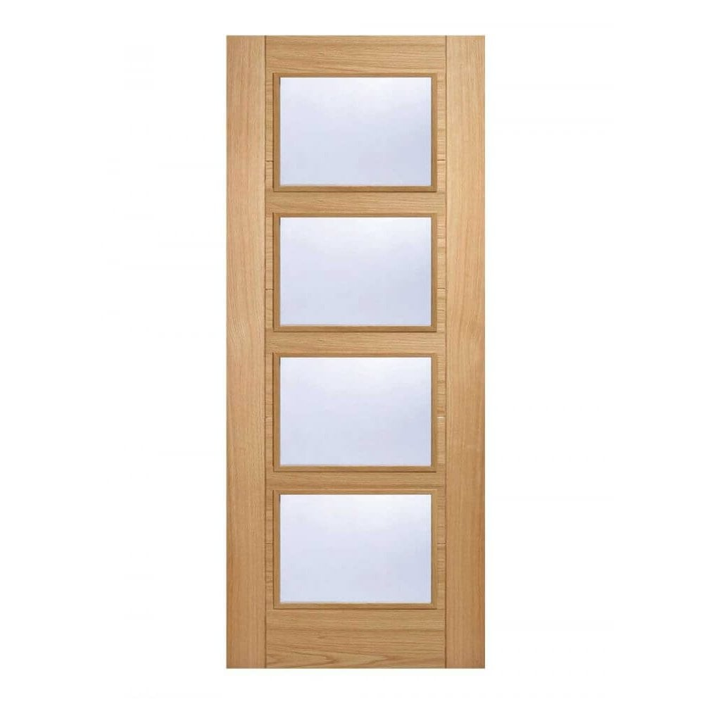 brand new da971 73c4b LPD Doors Pre-Finished Oak Vancouver Glazed Internal Door