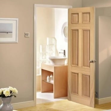Regency Oak 3 Panel Non Raised Unfinished Internal Door