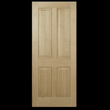 Regency Oak 4 Panel Non Raised Unfinished Internal Fire Door