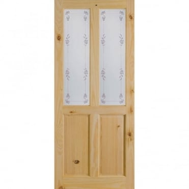 Richmond Bluebell Knotty Pine Glass Internal Door