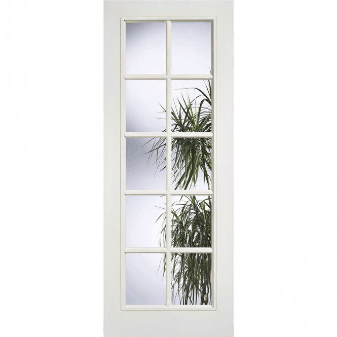 SA 10L White Composite Moulded 10 Lite Glazed Internal Door  sc 1 st  Beatsons Building Supplies & Buy SA 10L White Composite Moulded 10 Lite Glazed Internal Door at ...