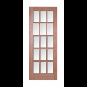 SA 15L Hardwood Clear Bevelled Glass Un-Stained Internal Door