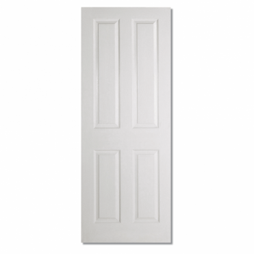 Textured White Composite Moulded 4 Panel Square Top Internal Door