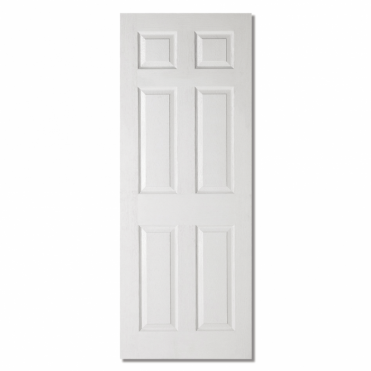 Textured White Composite Moulded 6 Panel Internal Door