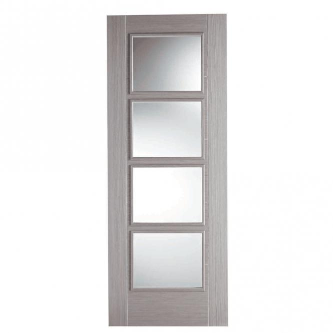 Vancouver Light Grey 4L Clear Glazed Pre-Finished Internal Door  sc 1 st  Beatsons Building Supplies & Buy Vancouver Light Grey 4L Clear Glazed Pre-Finished Internal Door ...