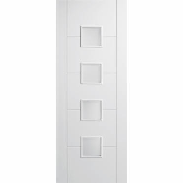 Vancouver White 4 Small Frosted Glazed Internal Door