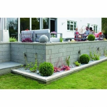 Argent Garden Walling 440x140x100mm (Pack of 90) (6.1m2 Per Pack)