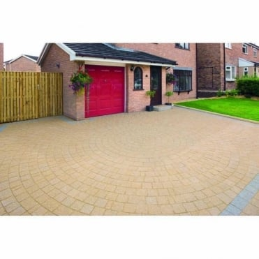 Drivesett Argent Blocking Paving Circle 2.6m Diameter Project Pack