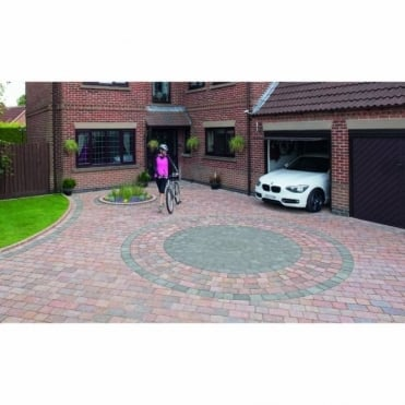 Drivesett Tegula Block Paving Circle - 2.6m Dia Project Pack