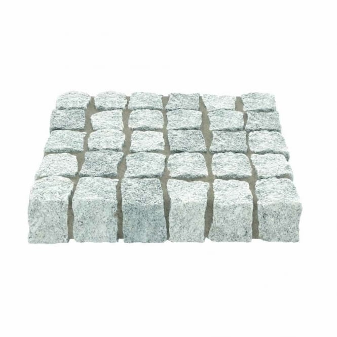 Marshalls Fairstone Cropped Granite Setts - Silver Grey - Single Size Packs