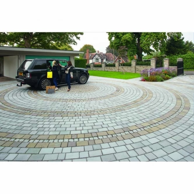 Marshalls Fairstone Driveway Setts - 7.83m2 3 Mixed Size Pack