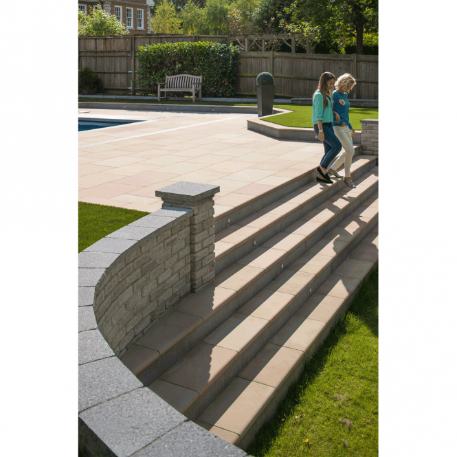 Marshalls Fairstone Sawn Versuro Step (Multi) - Centre Stone 560x350x50mm (Pack of 30)