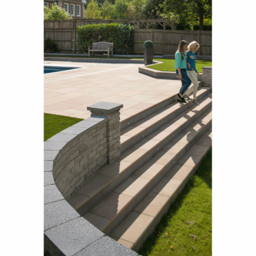 Fairstone Sawn Versuro Step (Multi) - Centre Stone 560x350x50mm (Pack of 30)