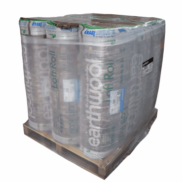 Pallet of Knauf Earthwool Loft Roll 44 Combi Cut (12 rolls)