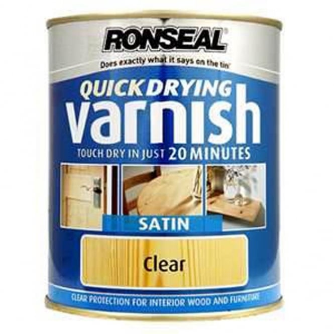 Ronseal Quick Drying Clear Varnish Satin 750ml