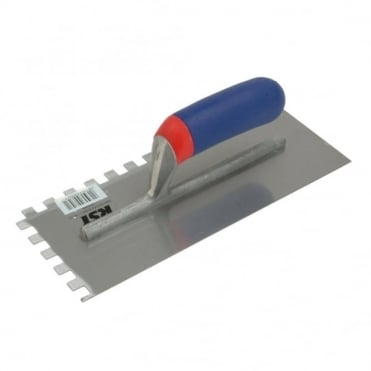Notched Trowel - Square Serration 10x10mm Soft Grip