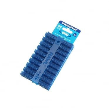 Blue Uno Plugs Card of 80