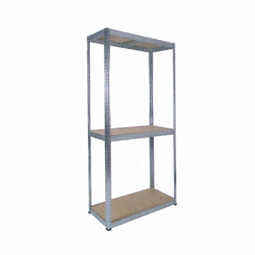 3 Shelf Racking Kit with Galvanised Frame with 1800x900mm MDF Shelves