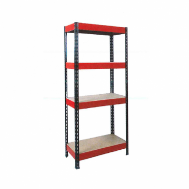 4 Shelf Racking Kit with Red and Black Frame