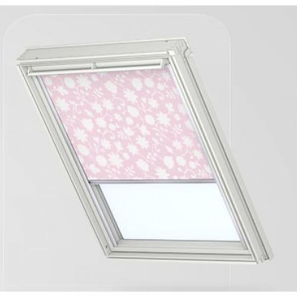 Rsl Solar Roller Blind Light Pink White Spring