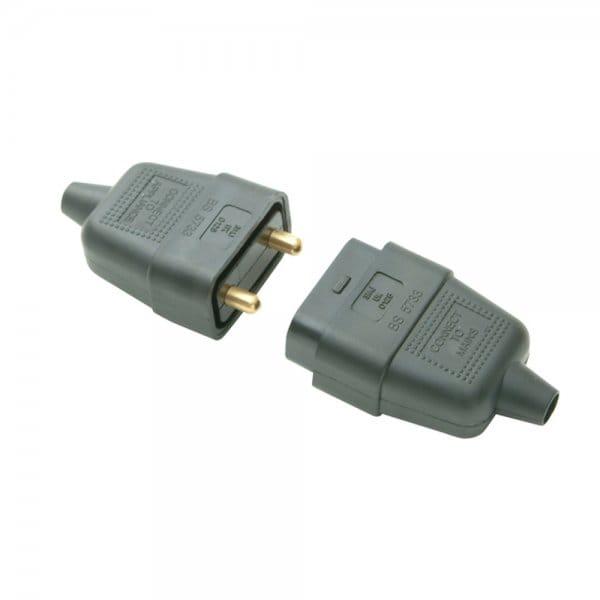 Buy Smj Rubber Plug Amp Socket 2 Pin Black 10 Amp At