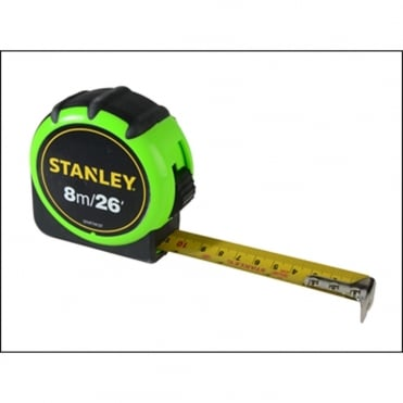 Stanley Hi-Vis Tape 8m/26ft