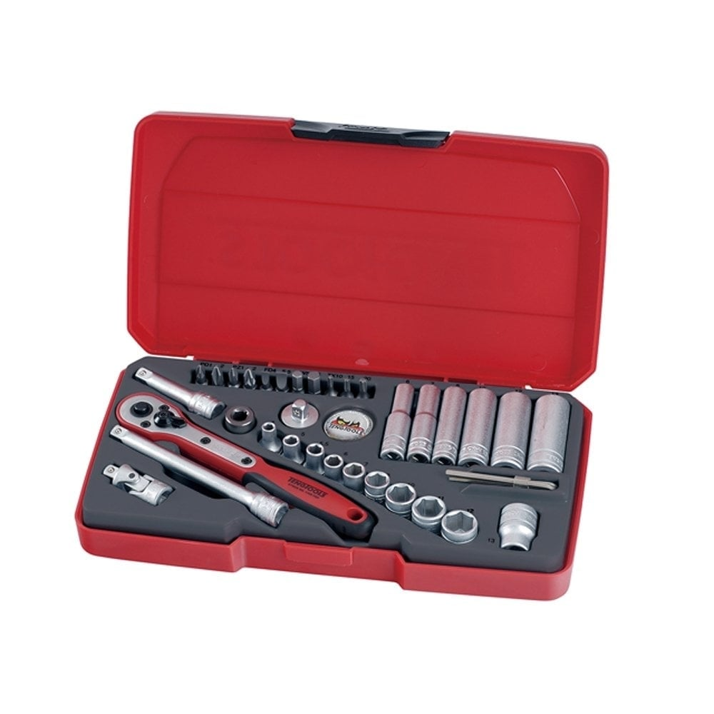 T1436 Socket Set Metric 36 Piece 1 4in Drive