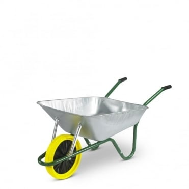 Easiload 85L Galvanised Wheelbarrow in a Box - Puncture Proof Wheel
