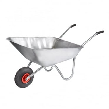 Rosemoor 85L Galvanised Wheelbarrow in a Box with Pneumatic Wheel