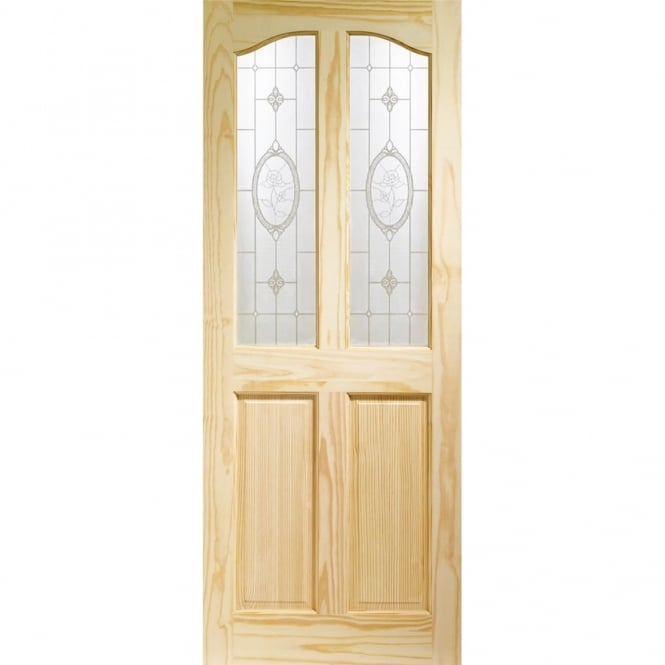 new arrival 2fddf 3147c Internal Clear Pine Rio with Crystal Rose Glass Door