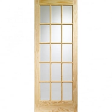 Internal Clear Pine SA77 with Clear Glass (15 Light) Door